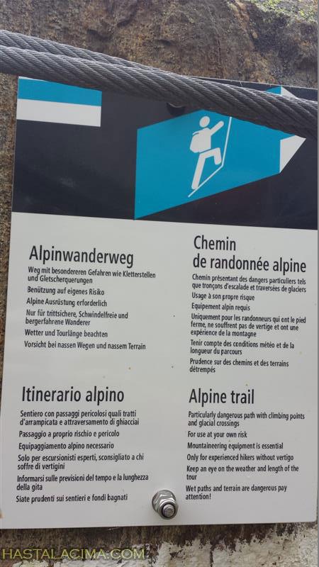 cartel ruta alpina